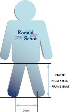 Wonderlijk Framemaat bepalen? | Fietsspeciaalzaak Ronald Schot DX-48
